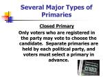 several major types of primaries