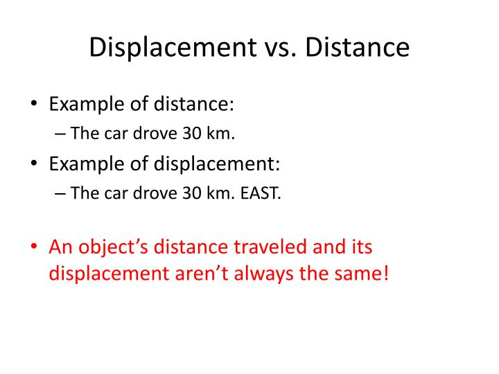 Ppt Distance Amp Displacement Powerpoint Presentation Id2870578