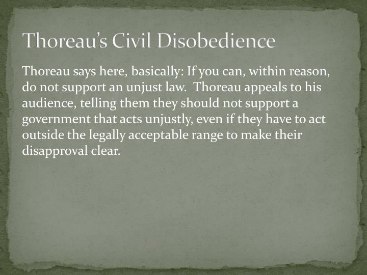 essay of civil disobedience thoreau The title civil disobedience was first attached to a reprint of essay after thoreau's death, and although it is the more widely known title, it does not reflect the author's intention (crf-usaorg.