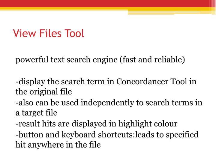 View Files Tool