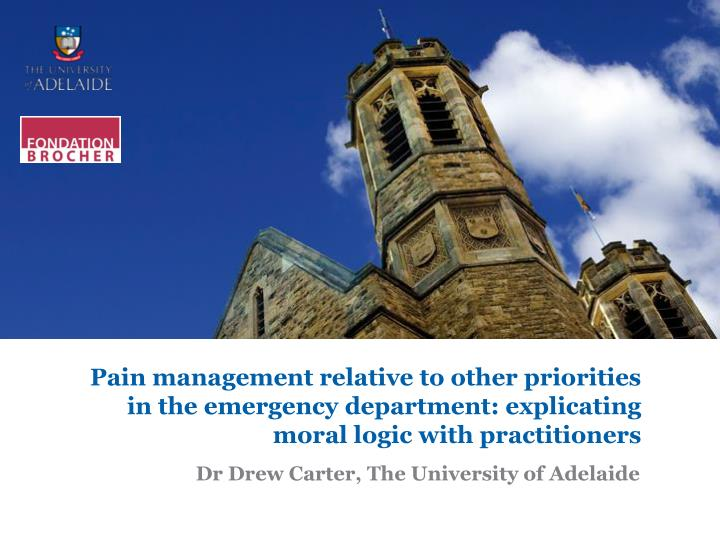 dr drew carter the university of adelaide n.