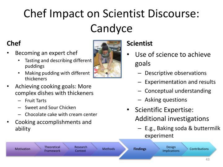 Chef Impact on Scientist Discourse: