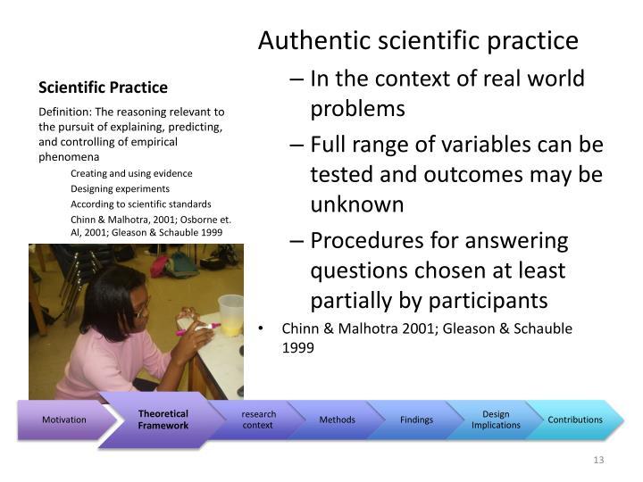 Scientific Practice