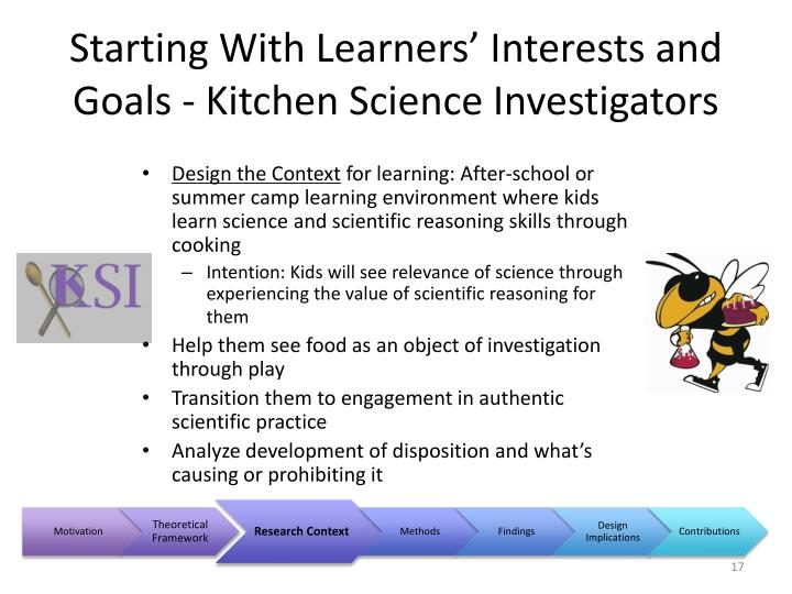 Starting With Learners' Interests and Goals - Kitchen Science Investigators