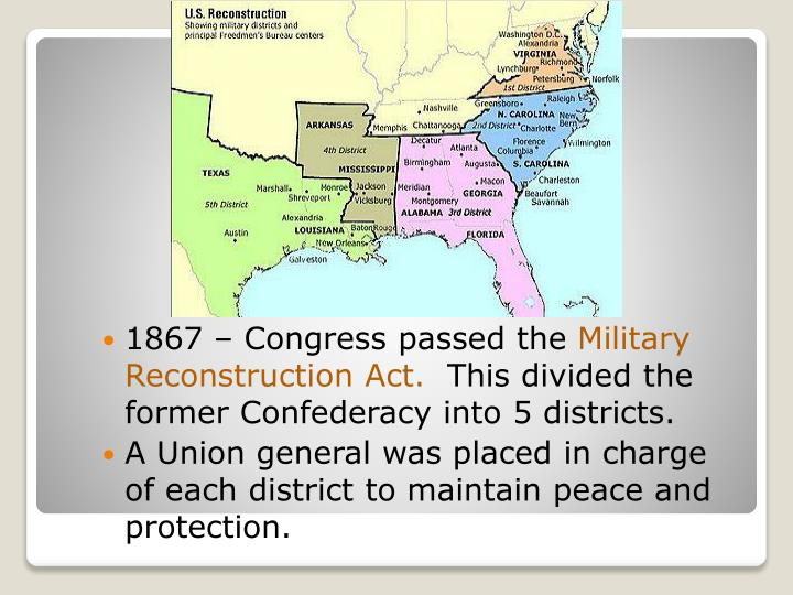 1867 – Congress passed the