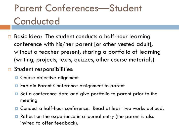 Parent Conferences—Student