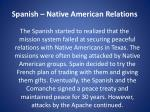spanish native american relations