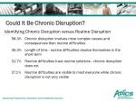 could it be chronic disruption