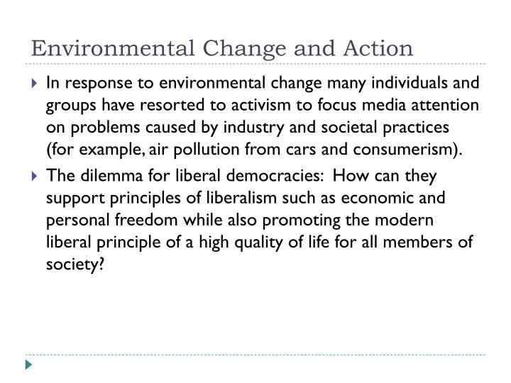 Environmental Change and Action