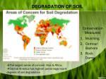 degradation of so il