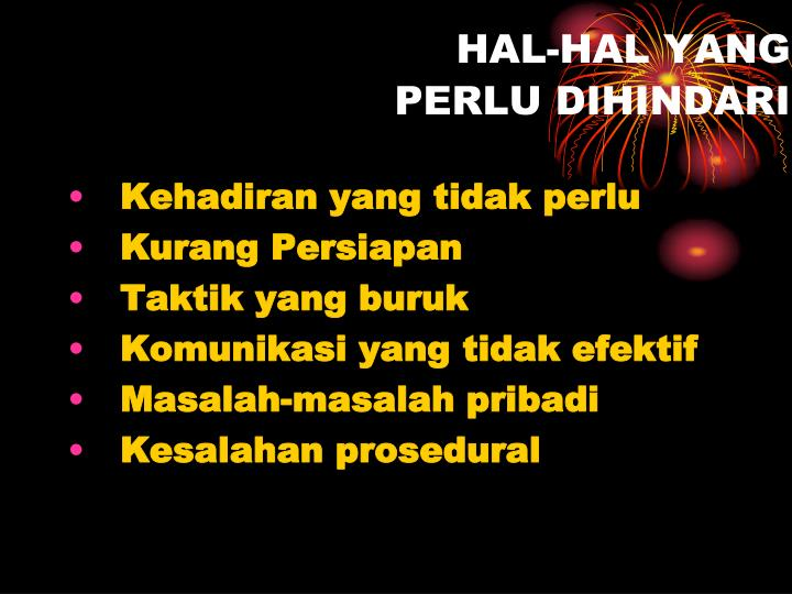 HAL-HAL YANG