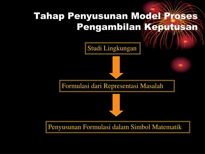 Tahap Penyusunan Model Proses Pengambilan Keputusan