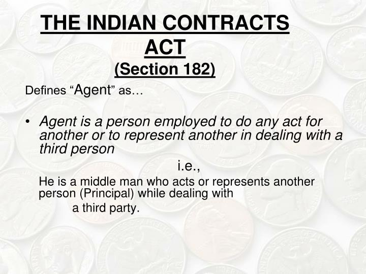 THE INDIAN CONTRACTS ACT
