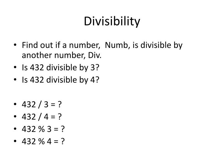divisibility n.