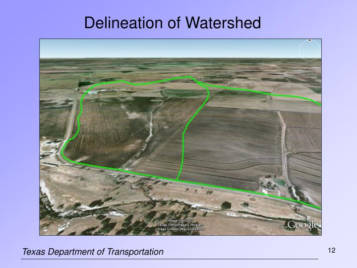 watershed delineation thesis Hormone and antibiotic concentrations in surface professor in charge of thesis on behalf of the advisory 41 watershed delineation for the sampling.
