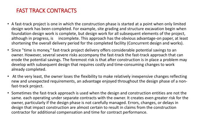 FAST TRACK CONTRACTS