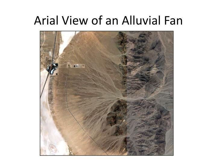 Arial View of an Alluvial Fan