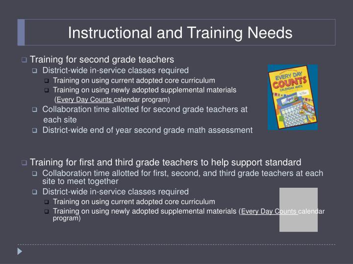 Instructional and Training Needs