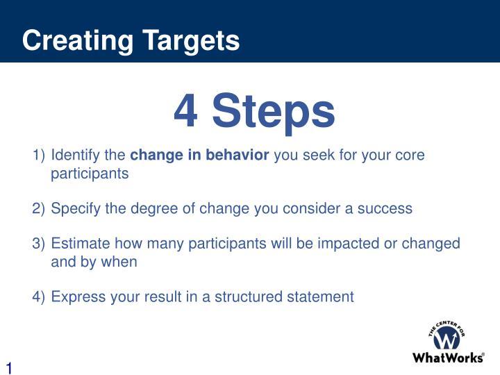 Creating Targets