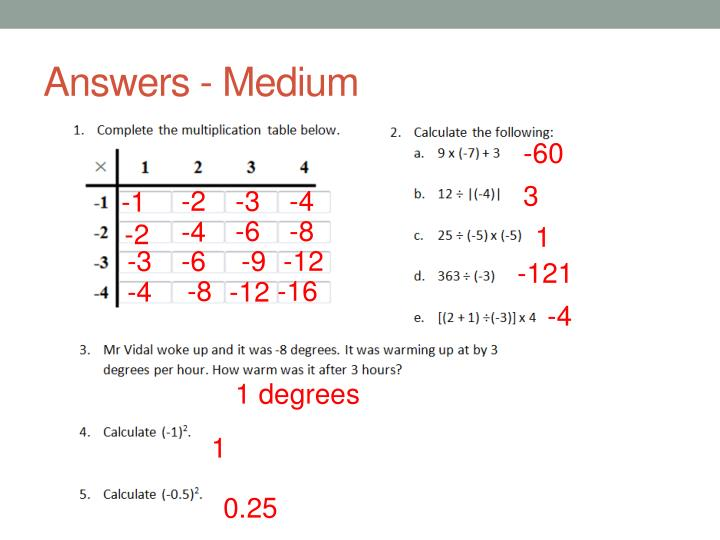 Answers - Medium