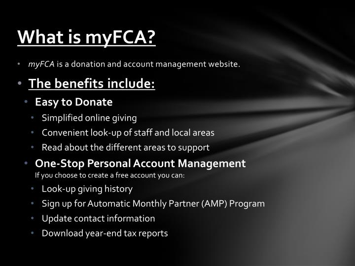 What is myfca