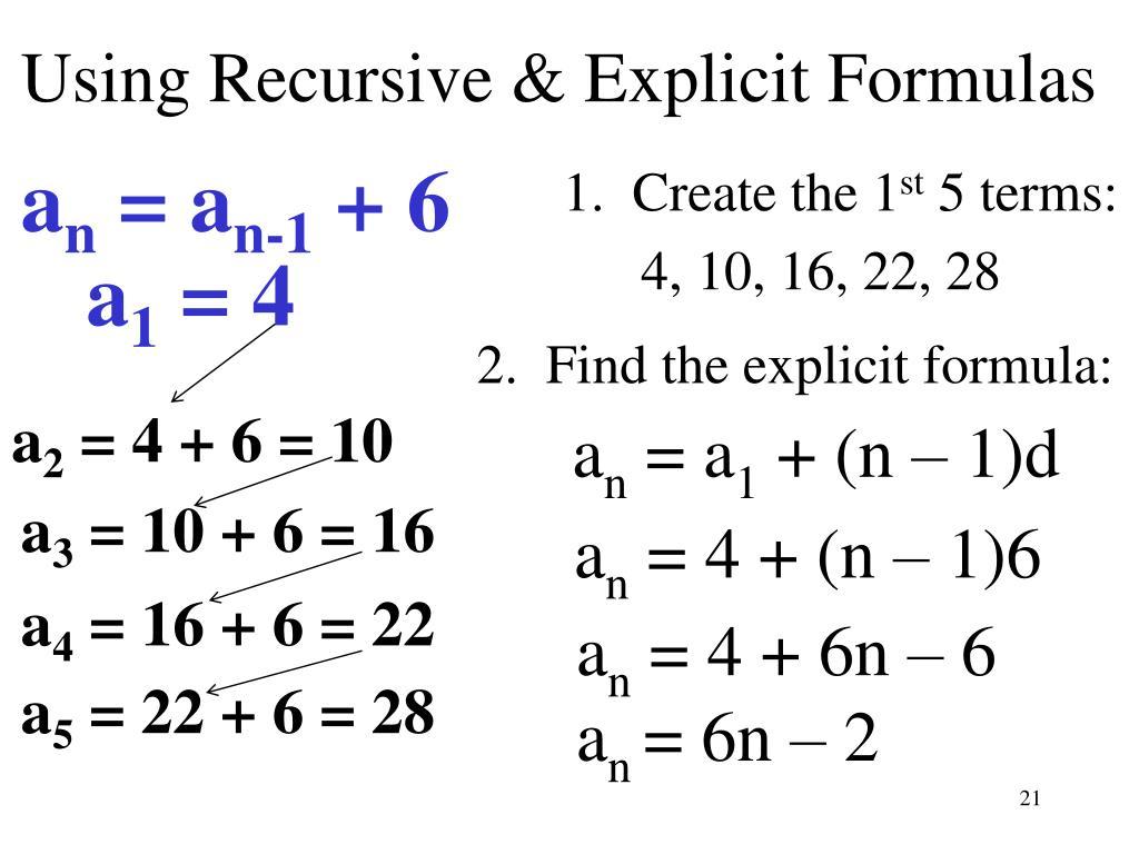 How To Find Explicit Formula