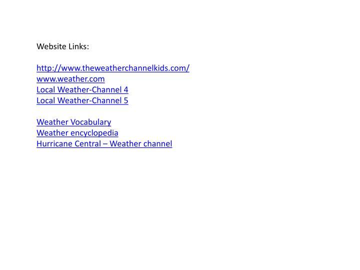 Website Links: