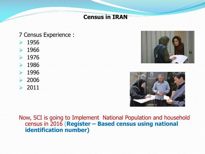 Census in IRAN