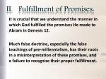 ii fulfillment of promises