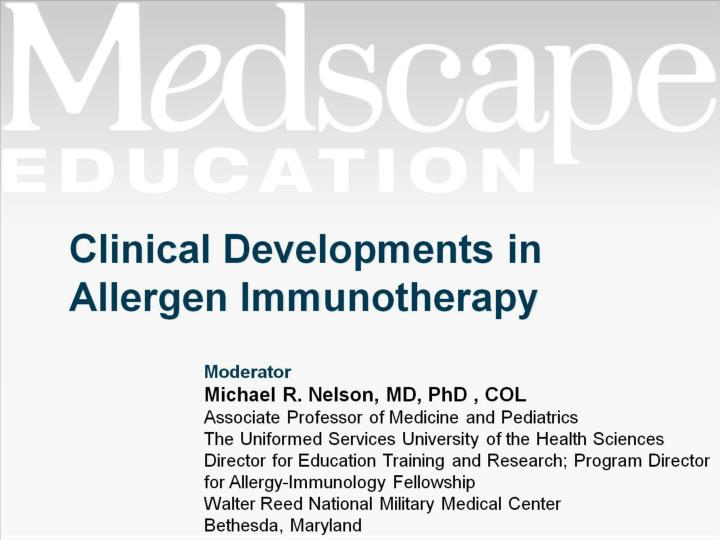Clinical developments in allergen immunotherapy