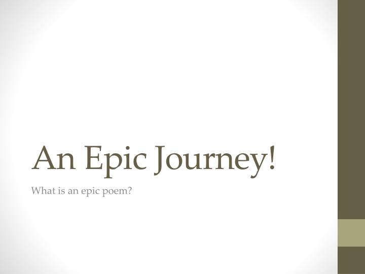 an epic journey n.