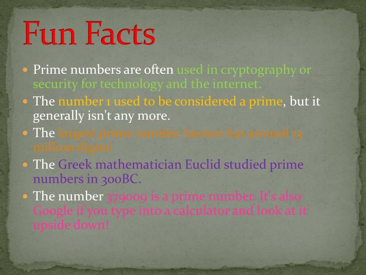Prime numbers used in cryptography
