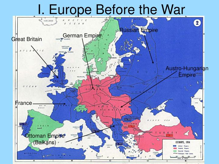 I. Europe Before the War