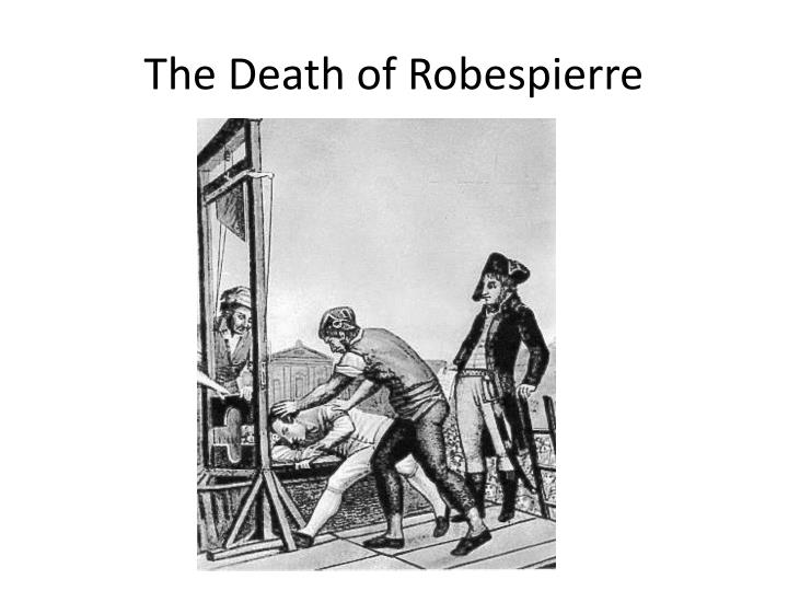 The Death of Robespierre
