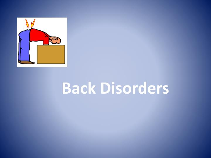 Back Disorders