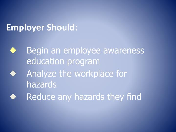 Employer Should: