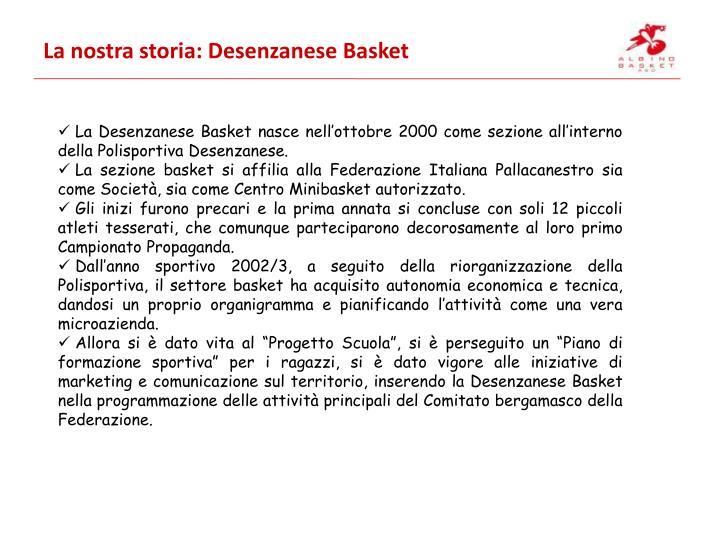 La nostra storia: Desenzanese Basket