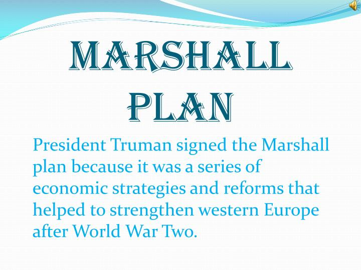 an evaluation of the marshall plan 51 american aid to greece: the marshall plan as a model for development sebastian bechmann abstract in response to a growing acknowledgement of the failure of international aid, one school of scholars.