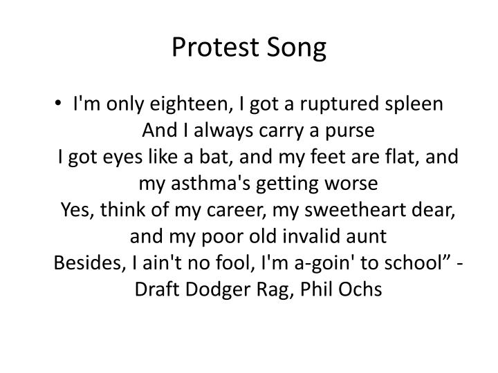 protest song n.