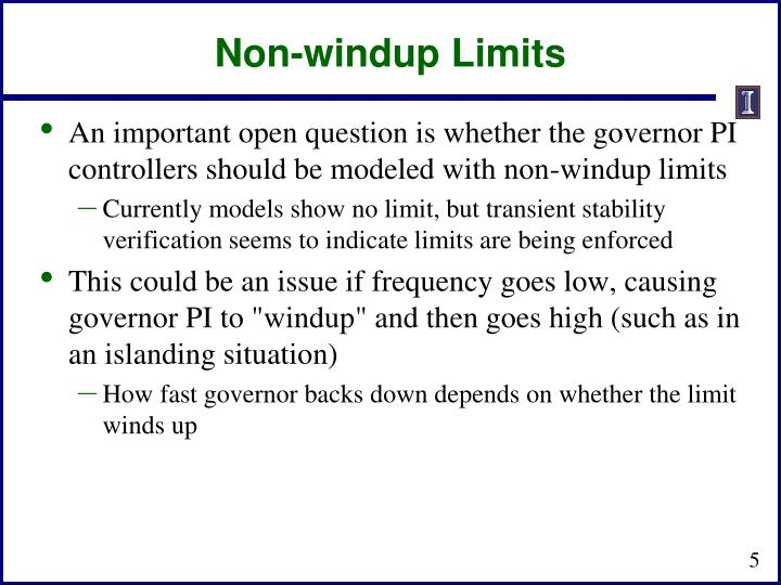 Non-windup Limits