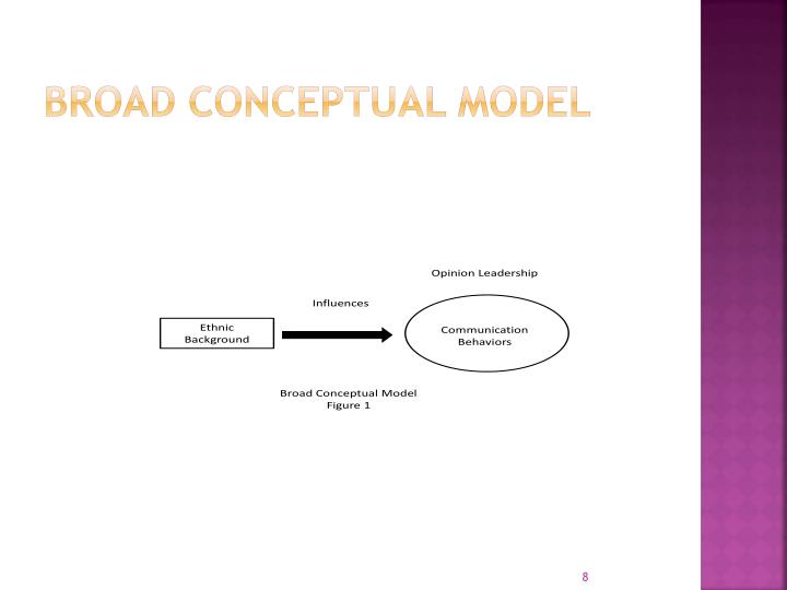 Broad Conceptual model