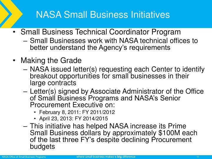 NASA Small Business Initiatives