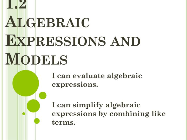 algebraic expressions essay Get the lowdown on the breakdown of topics in algebraic expressions here let us make it easier for you by simplifying things.
