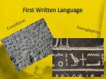 first written language