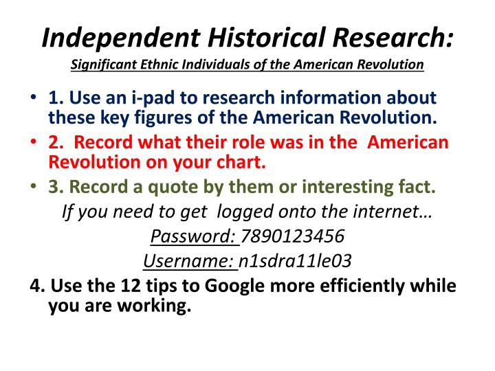 independent historical research significant ethnic individuals of the american revolution n.