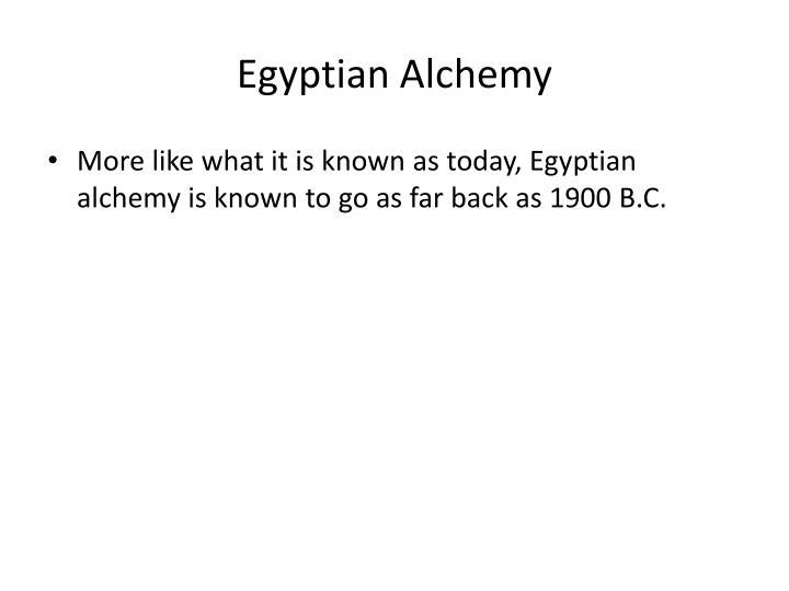 Egyptian Alchemy