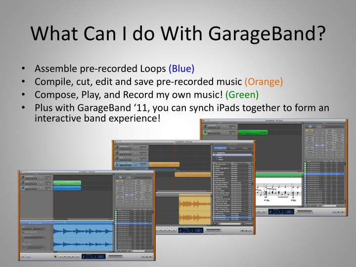 What Can I do With GarageBand?
