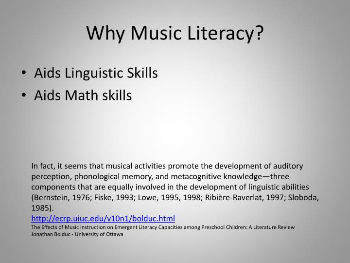 Why music literacy