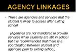 agency linkages