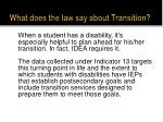 what does the law say about transition1